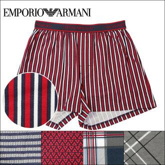 EMPORIO ARMANI / Emporio Armani 花式模式混合的男人树干男性内衣男友父亲礼物裤子平原条纹复选模式生日礼物