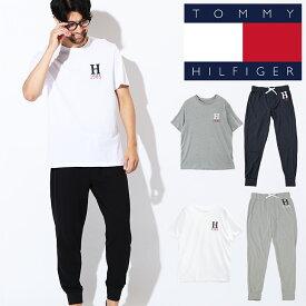 トミーヒルフィガー ルームウェア セット メンズ Tシャツ&スウェット 半袖 部屋着 ジョガーパンツ ロゴ 上下セット セットアップ TOMMY HILFIGER KNIT JOGGER SET ブランド プチギフト 誕生日プレゼント 彼氏 父の日 男性 ギフトサマーI