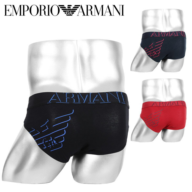 エンポリオ アルマーニ ブリーフ メンズ 下着 パンツ ビキニ EMPORIO ARMANI 3D PRINT イーグル ロゴ ブランド プチギフト 誕生日プレゼント 彼氏 父の日 男性 ギフト