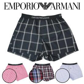 エンポリオ アルマーニ トランクス メンズ 下着 前開き パンツ EMPORIO ARMANI YARN DYED WOVENS イーグル ロゴ ブランド プチギフト 誕生日プレゼント 彼氏 父 男性 ギフト 記念日 おしゃれ