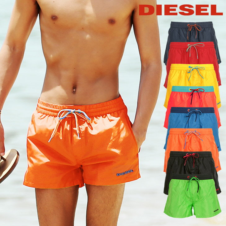 DIESEL/ディーゼル 水着 メンズ サーフパンツ ボードショーツ ショート丈 BMBX SANDY 無地 ロゴ スイムウェア ビーチウェア ショートパンツ 誕生日プレゼント 彼氏 父 男性 ギフト