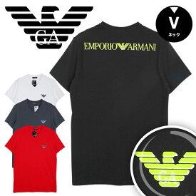 EMPORIO ARMANI エンポリオ アルマーニ Vネック 半袖 Tシャツ メンズ トップス インナー 3D LOGO かっこいい おしゃれ 綿 父の日 ブランド 男性 プレゼント プチギフト 誕生日プレゼント 彼氏 父 ギフト 記念日