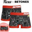 ビトーンズ ボクサーパンツ メンズ 下着 おしゃれ BETONES FICUS フィークス コラボ フリーサイズ かわいい プチギフ…