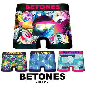 ビトーンズ ボクサーパンツ メンズ 下着 BETONES MTV コラボ カラフル ブランド プチギフト 誕生日プレゼント 彼氏 父 男性 ギフト 水着インナー 記念日 おしゃれ