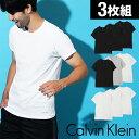 【3枚セット】カルバンクライン メンズ クルーネック Tシャツ Calvin Klein CK カルバン 無地 丸首 半袖 白 ブランド 下着 肌着 インナー トップス 福袋 3枚組 まとめ買い 誕生日プレゼント バレンタイン 男性 彼氏 父 ギフト 記念日 おしゃれ