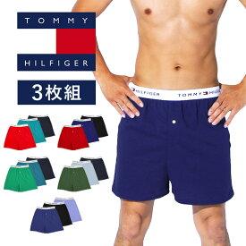 【3枚セット】TOMMY HILFIGER トミーヒルフィガー トランクス メンズ 下着 おしゃれ かっこいい フラッグ 綿 3枚セット ブランド 男性 プレゼント プチギフト 敬老の日 誕生日プレゼント 彼氏 父 ギフト 記念日