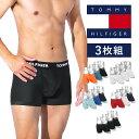 【3枚セット】TOMMY HILFIGER トミーヒルフィガー ボクサーパンツ メンズ 下着 おしゃれ かっこいい フラッグ 綿 3枚…