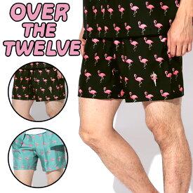 オーバーザトゥエルブ ショーツ メンズ シルク OVER THE TWELVE ショートパンツ ハーフパンツ ルームウエア オシャレ かわいい ルームウェア 誕生日プレゼント 夏物 父 男性 ギフト 記念日