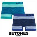 BETONES/ビトーンズ ボクサーパンツ メンズ 下着 NEON3 ネオン ボーダー ペア フリーサイズ オシャレ カワイイ 誕生日…