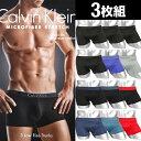 【3枚セット】Calvin Klein/カルバンクライン ローライズ ボクサーパンツ メンズ Microfiber Stretch 3P 3枚組セット …