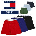 【3枚セット】トミーヒルフィガー トランクス メンズ おしゃれ 前開き TOMMY HILFIGER Classic Fit Knit 綿100 3枚組 …