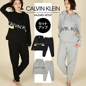 カルバンクライン スウェット セットアップ 上下セット レディース Calvin Klein Jeans HAZARD かわいい 暖かい 蛍光 ブランド ロゴ ストリート カジュアル 女性 プレゼント プチギフト 誕生日プレゼント クリスマス 彼女 ギフト 記念日