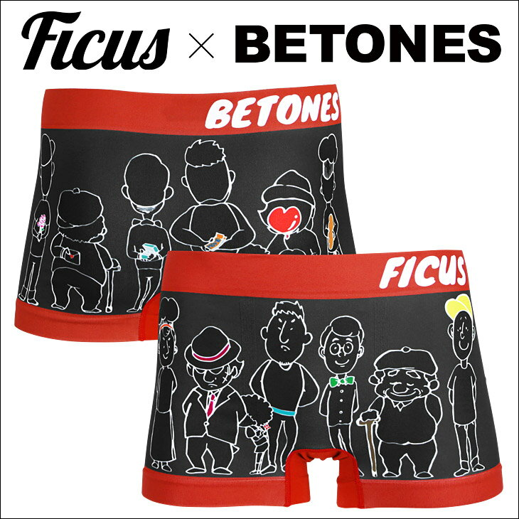 BETONES/ビトーンズ×FICUS/フィークス ボクサーパンツ メンズ 下着 BOYS バレンタイン 誕生日プレゼント 彼氏 父 男性 旦那 ギフト