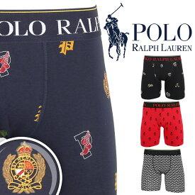 POLO RALPH LAUREN ポロ ラルフローレン ロング ボクサーパンツ メンズ 下着 大きい おしゃれ ポニー ドット 綿 ブランド 男性 プチギフト 誕生日プレゼント 彼氏 父 息子 ギフト 記念日