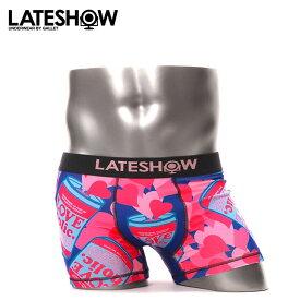 LATESHOW/レイトショー ボクサーパンツ メンズ 下着 LOVEHOLIC ハート オシャレ かわいい 誕生日プレゼント 彼氏 父 男性 旦那 ギフト
