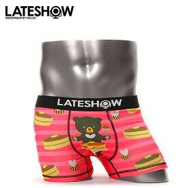 LATESHOW/レイトショー ボクサーパンツ メンズ 下着 BEAR,BEE&PANCAKE クマ オシャレ かわいい プチギフト 誕生日プレゼント 彼氏 父 男性 旦那 ギフト 送料無料