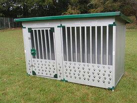 メタルテック ドッグハウス DFD-1 床付タイプ(0.5坪タイプ屋外用犬小屋)【小型犬 中型犬 大型犬 犬小屋 】