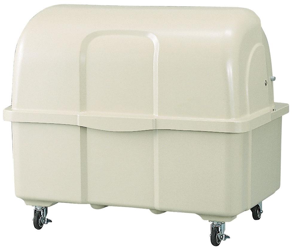 カイスイマレン ジャンボペールHG1000C(キャスター付き)【容量1000L 45Lゴミ袋22個相当 約15世帯 大型ゴミ箱 ゴミステーション FRP製 キャスター付き アイボリー】