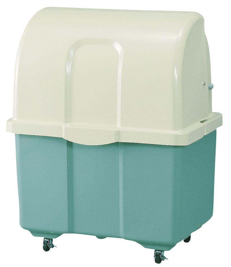 カイスイマレン ジャンボペールHG400TC(キャスター付き)【容量400L 45Lゴミ袋9個相当 約6世帯 大型ゴミ箱 ゴミステーション FRP製 キャスター付き ツートンカラー】