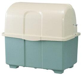 カイスイマレン ジャンボペールHG600TK(固定足)【容量600L 45Lゴミ袋13個相当 約9世帯 大型ゴミ箱 ゴミステーション FRP製 固定足 ツートンカラー】