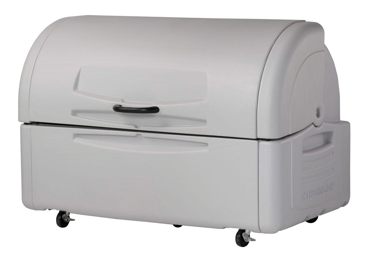 カイスイマレン ジャンボペールPE700C(キャスター付き)【容量680L 45Lゴミ袋15個相当 約10世帯 大型ゴミ箱 ゴミステーション プラスチック製 キャスター付き ライトグレー】