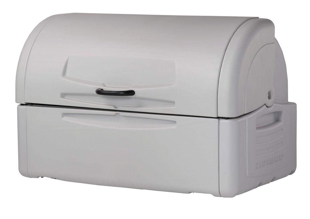 カイスイマレン ジャンボペールPE700K(固定足)【容量680L 45Lゴミ袋15個相当 約10世帯 大型ゴミ箱 ゴミステーション プラスチック製 固定足 ライトグレー】