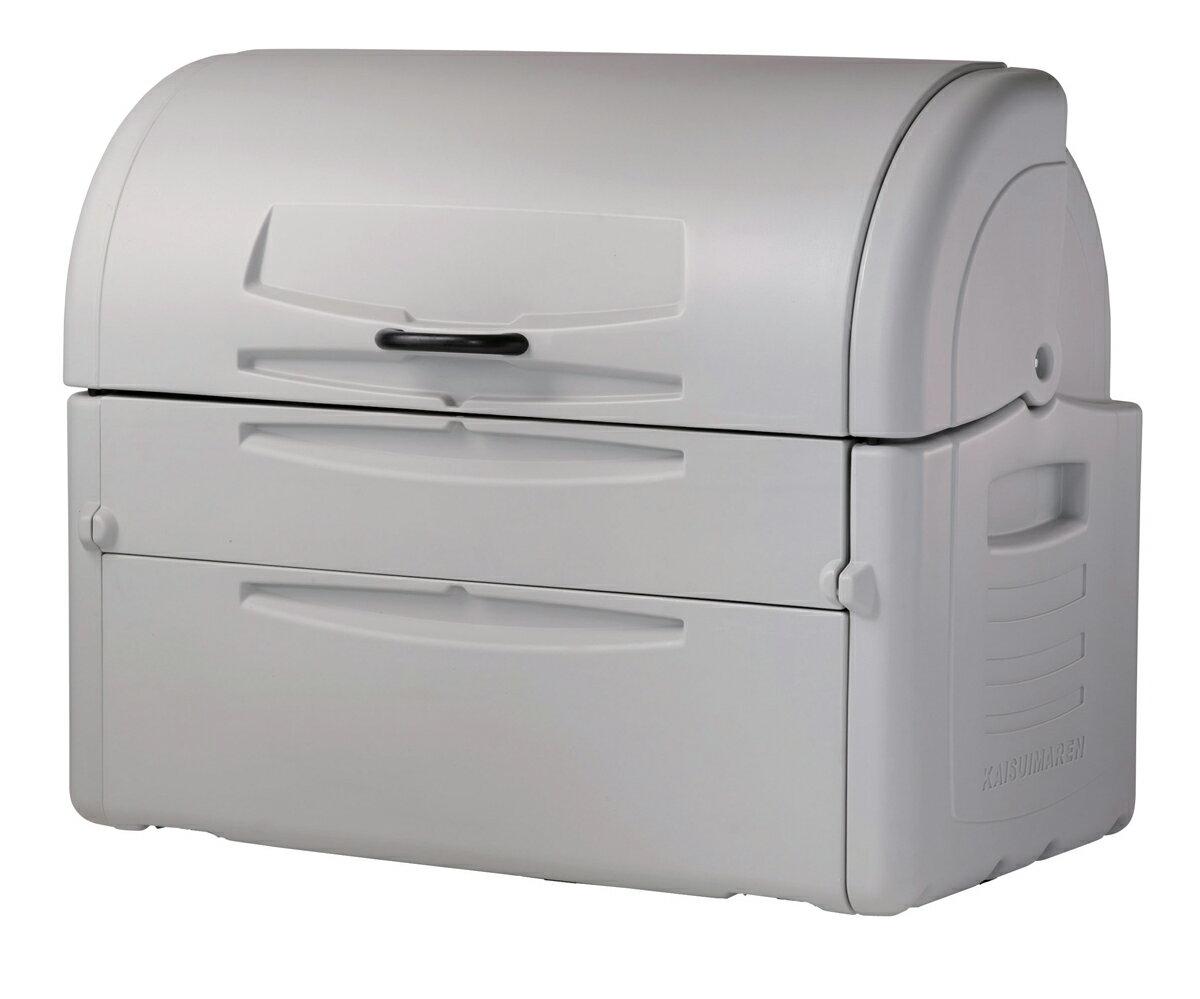 カイスイマレン ジャンボペールPE850K(固定足)【容量850L 45Lゴミ袋19個相当 約13世帯 大型ゴミ箱 ゴミステーション プラスチック製 固定足 ライトグレー】