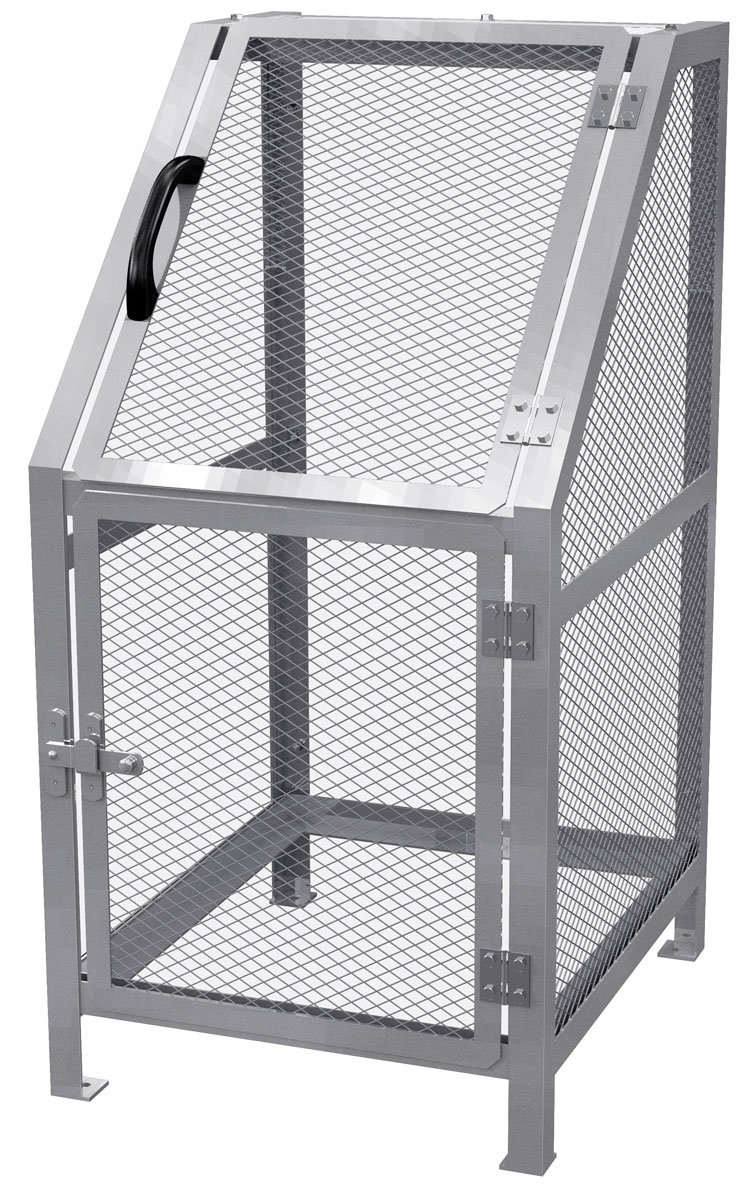 カイスイマレン ジャンボメッシュST400(ST-400)お客様組立品【容量400L 45Lゴミ袋8個相当 約5世帯 大型ゴミ箱 ゴミステーション スチール製 シルバー】