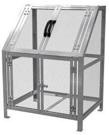 カイスイマレン ジャンボメッシュST600(ST-600)お客様組立品【容量600L 45Lゴミ袋13個相当 約9世帯 大型ゴミ箱 ゴミステーション スチール製 シルバー】