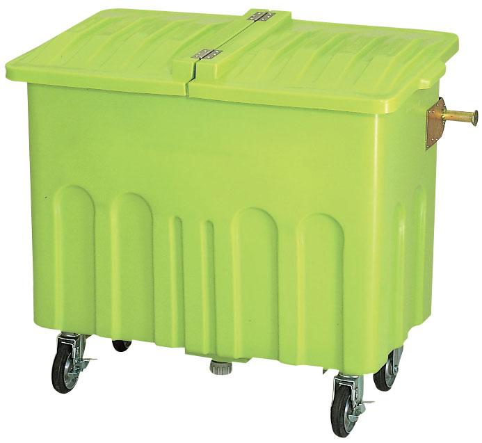 カイスイマレン エコカートP700本体+P700Fフタセット【容量700L 集積搬送カート ごみ回収 ゴミ回収 ダンボール回収 プラスチック製 キャスター付き ライトグリーン】