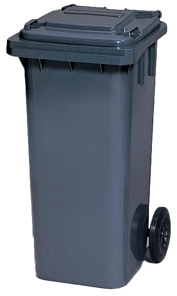 カイスイマレン ダストカートKT120【容量120 集積搬送カート ごみ回収 ゴミ回収 ダンボール回収 プラスチック製 キャスター付き ダークグレー】