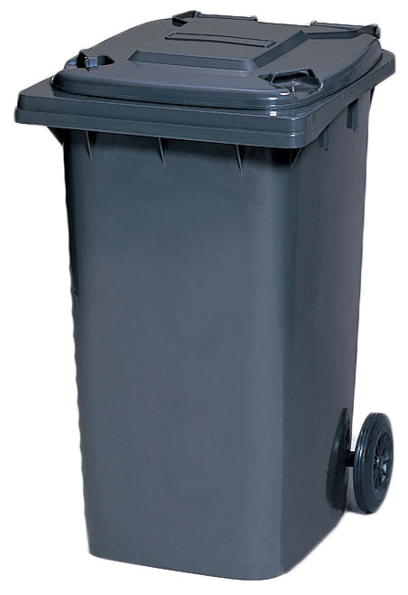 カイスイマレン ダストカートKT240【容量220L 集積搬送カート ごみ回収 ゴミ回収 ダンボール回収 プラスチック製 キャスター付き ダークグレー】