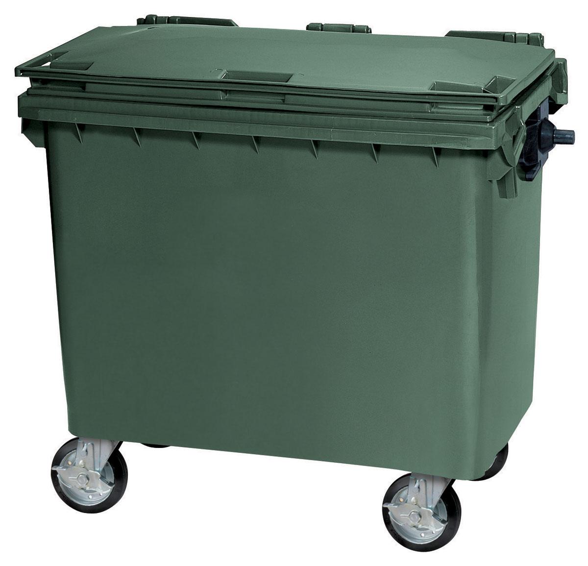 カイスイマレン ダストカートKF660 【容量660L 集積搬送カート ごみ回収 ゴミ回収 ダンボール回収 プラスチック製 キャスター付き グリーン】