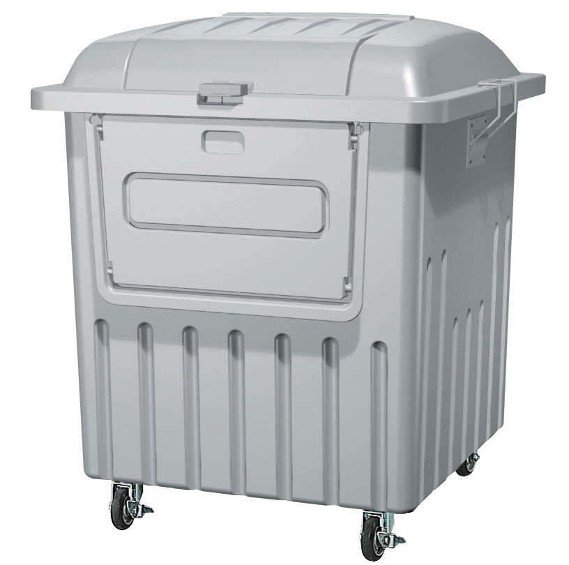 カイスイマレン ジャンボペールPRF1000C(キャスター付き)【容量1000L 45Lゴミ袋23個相当 約15世帯 分別ゴミ箱 分別ごみ箱 ダストボックス プラスチック製 キャスター付き ライトグレー】