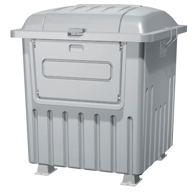 カイスイマレン ジャンボペールPRF1000K(固定足)【容量1000L 45Lゴミ袋23個相当 約15世帯 分別ゴミ箱 分別ごみ箱 ダストボックス 固定足 キャスター付き ライトグレー】