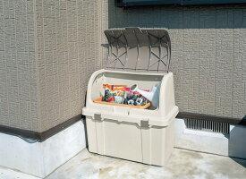 ゴミ箱 屋外 大容量 リッチェル 分別ストッカー ベージュ W220C 仕切り 付き【送料無料 ごみ箱 屋外用ゴミ箱 ベランダ ストッカー ゴミステーション ふた付き おしゃれ】