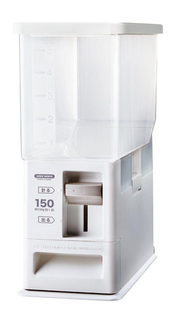 【送料無料】計量米びつ 6kg型 洗える米びつ ホワイト ( ライスストッカー 5kg )【レバーでラクラク計量できる米びつ】