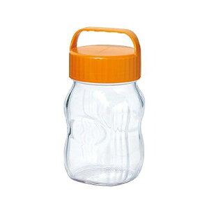 漬け上手 フルーツシロップびん オレンジ 1L (ガラス保存瓶)【自宅で手作りフルーツシロップ漬け!ガラス保存瓶】