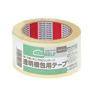 透明梱包用テープ 5cm×50m巻 J6030【ダンボール箱の包装に!梱包テープ】
