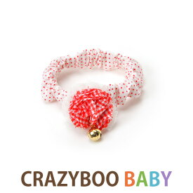 CRAZYBOO Baby(クレイジーブー ベビー)チェックフラワー シュシュ2XS / XS / Sサイズ犬服 / 犬の服/ ドッグウェア