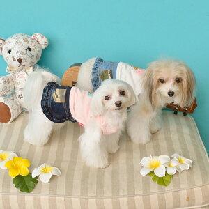 CRAZYBOO/クレイジーブーアイスクリームワンピースXS/S/M/Lサイズオフホワイト/ピンク小型犬/チワワ/キャバリア/ヨークシャーテリア/シーズー/マルチーズ/プードル犬服/犬の服/ドッグウェア春夏コレクション
