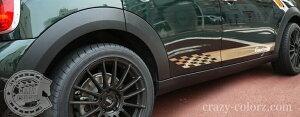 BMWMINIミニクロスオーバーR60チェッカーロッカーストライプチェックデカールステッカーcooperScrossovercountrymanstripedecal