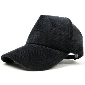 大きいサイズ メンズ 帽子 L XL コーデュロイ キャップ BIGWATCH 黒 オールブラック ビッグサイズ ビッグワッチ 春 夏 秋 UVケア