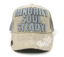 大きいサイズ帽子メンズガレージヘンプコットンCAPBIGWATCHチャコール/MIXグレー