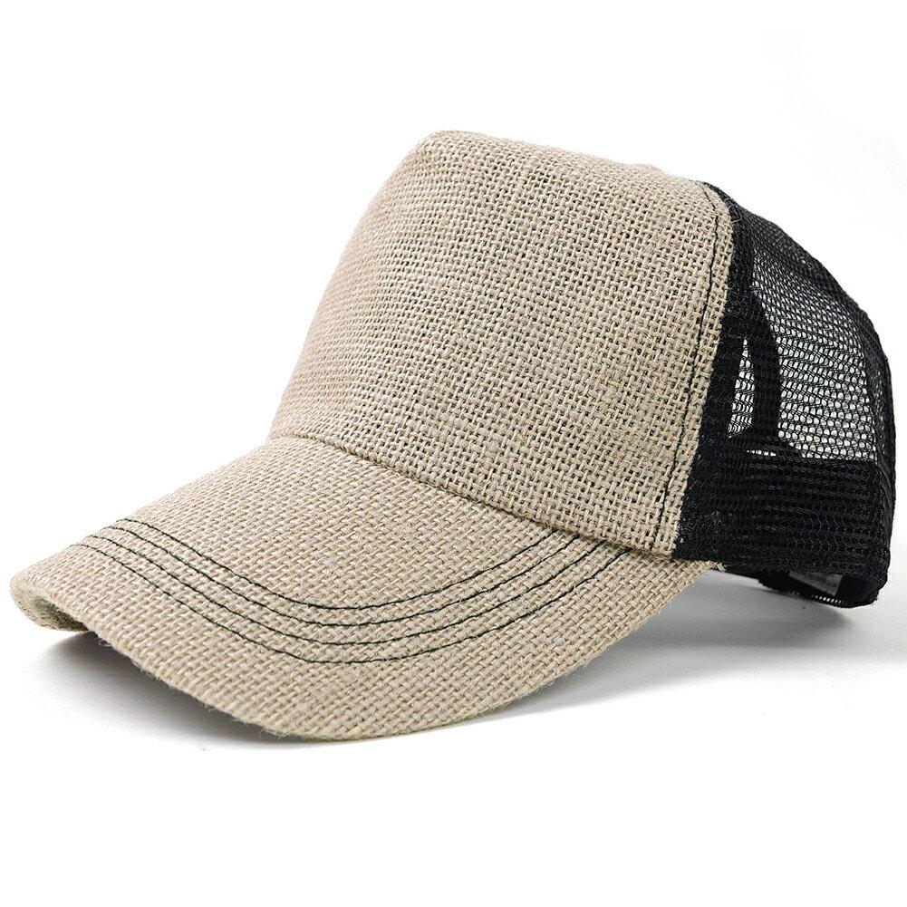 帽子 大きいサイズ L XL 無地 ヘンプキャップ BIGWATCH ライトグレー ブラック メッシュキャップ 楽天BOX受取対象商品 CPM-21 春 夏 秋 UVケア