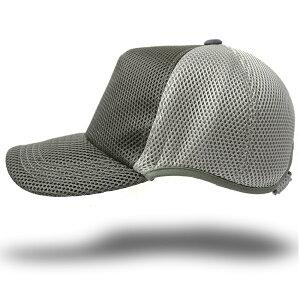 帽子 大きいサイズ L XL ゴルフ 無地ラウンド メッシュキャップ BIGWATCH グレー/ライトグレー ビッグサイズ ビッグワッチ スポーツキャップ ウォーキング ランニング CPMG-14R 春 夏 秋 UVケア