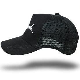 大きいサイズ メンズ 帽子 L XL 刺繍 ラウンドメッシュキャップBIGWATCH ブラック キャップ ビッグサイズ スポーツキャップ ダメージ加工無し CPR-21 春 夏 秋 UVケア/ビッグワッチ