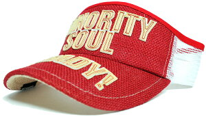 大きいサイズ メンズ 帽子 L XL ヘンプサンバイザーBIGWATCH レッド ホワイト ビッグワッチ サンバイザー 帽子 SBH-03 春 夏 秋 UVケア