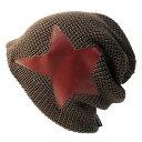 大きいサイズ メンズ 帽子 L XL ラージスター BIGWATCH ビッグワッチ 正規品 カーキブラウンニットキャップ ロック系 ルーズ ニットワッチ ニット帽子 ST-02 春 秋 冬