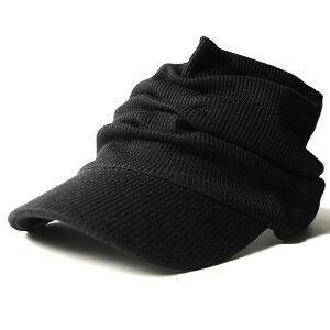 大きいサイズ メンズ 帽子 L XL サーマル ターバンバイザーBIGWATCH ブラック ビッグワッチ サンバイザー 帽子 ワッフル ターバン ヘアバンド STB-01 春 夏 秋 UVケア